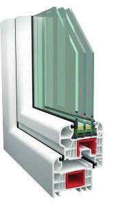 spectrum perstige műanyag ablak metszett 3 rétegű üveggel
