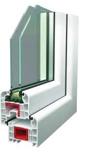 spectrum prémium műanyag ablak metszett 2 rétegű üveggel