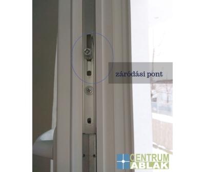 záródási pont - műanyag ablak